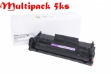 Multipack Canon FX10 / HP Q2612A, Black - 5ks