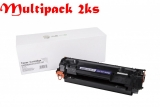 Multipack HP CF283X / CRG737, Black - 2ks