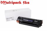Multipack HP CF283X / CRG737, Black - 5ks