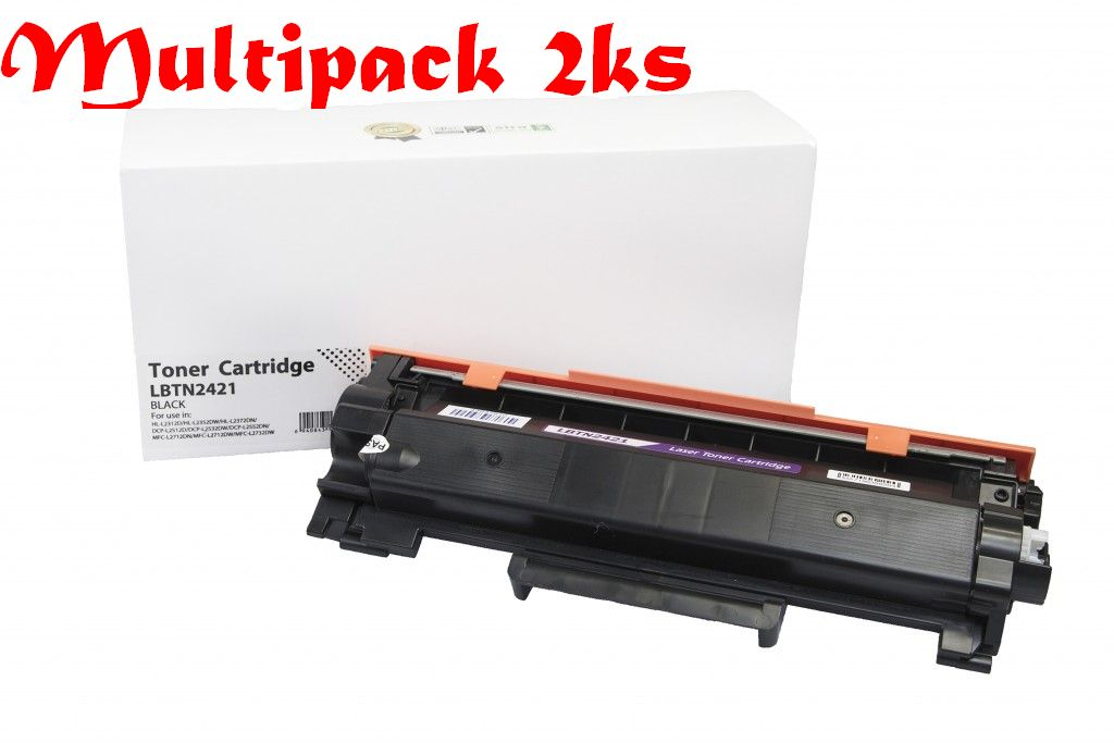 Multipack Brother TN2421, Black - 2ks